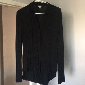 Converse one star black button down blouse